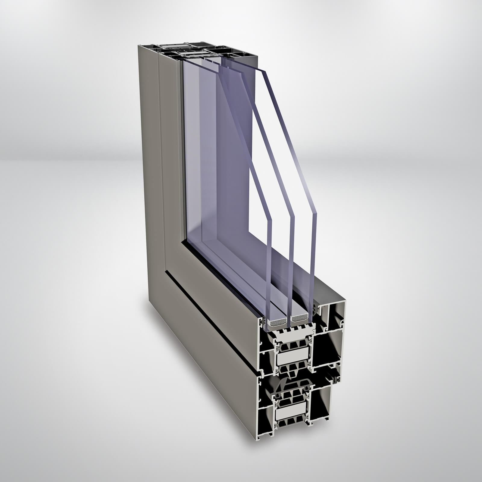 Hliníkové okná ALIPLAST Superial