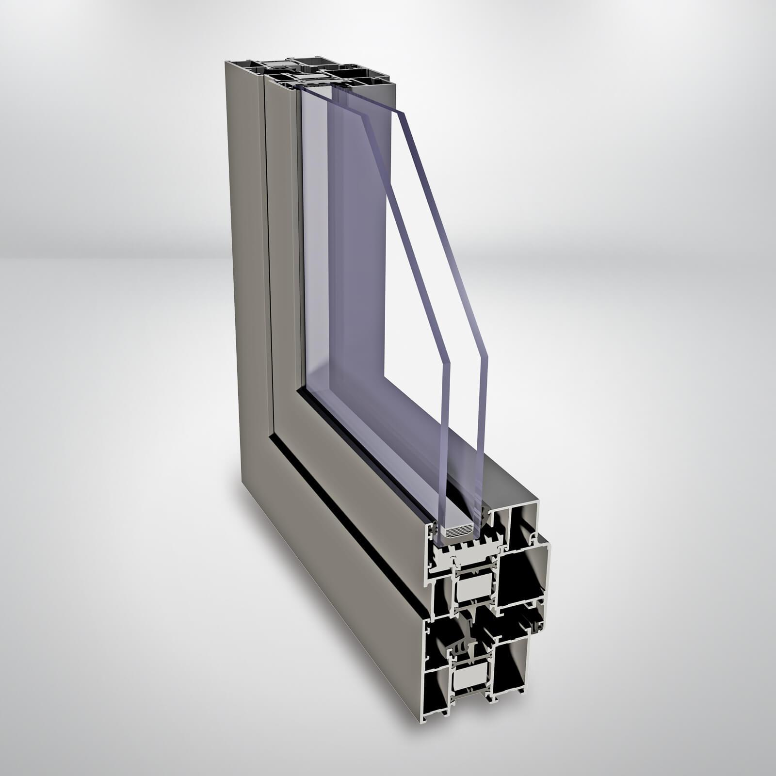 Hliníkové okno ALIPLAST Imperial