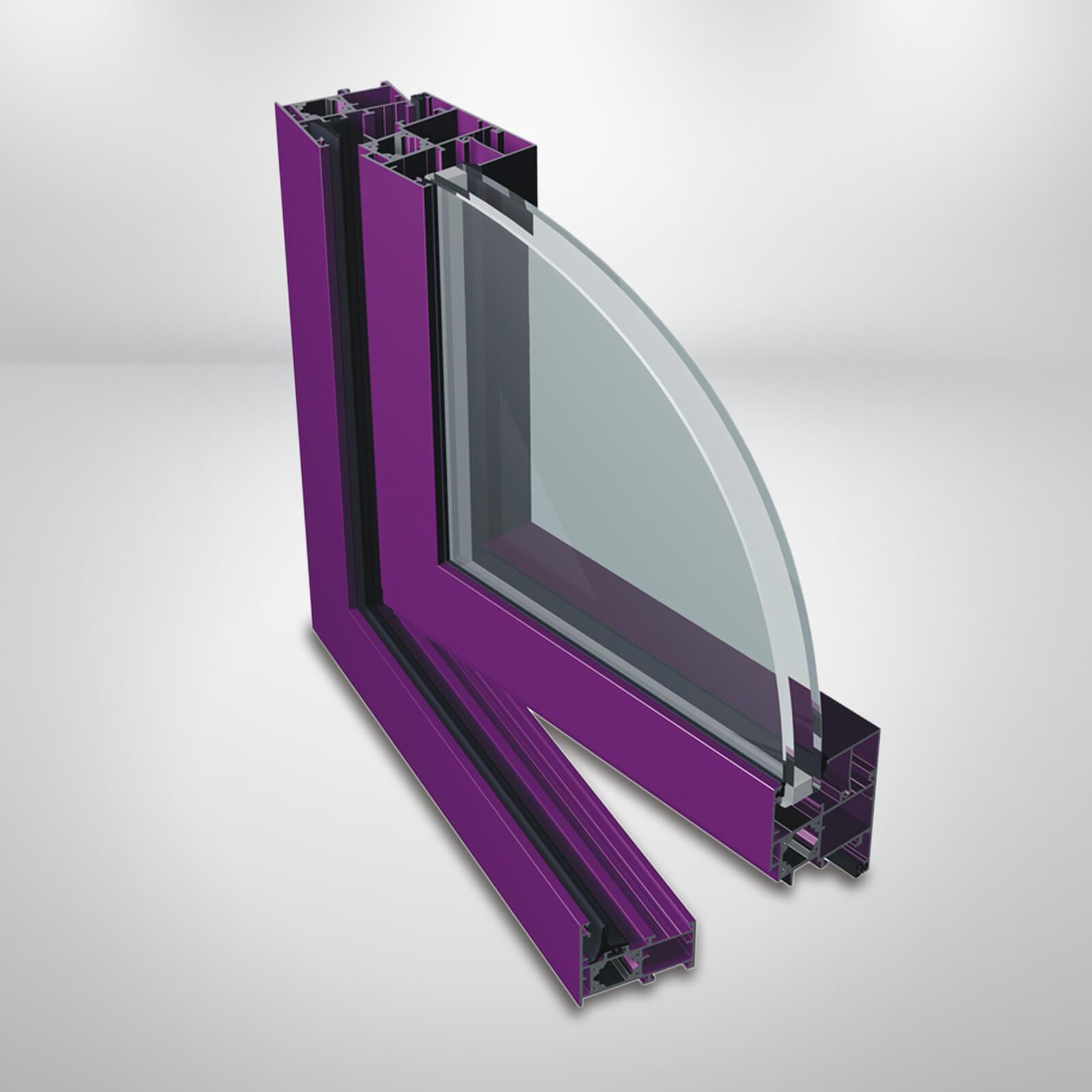 Hliníkové okná PONZIO PE52