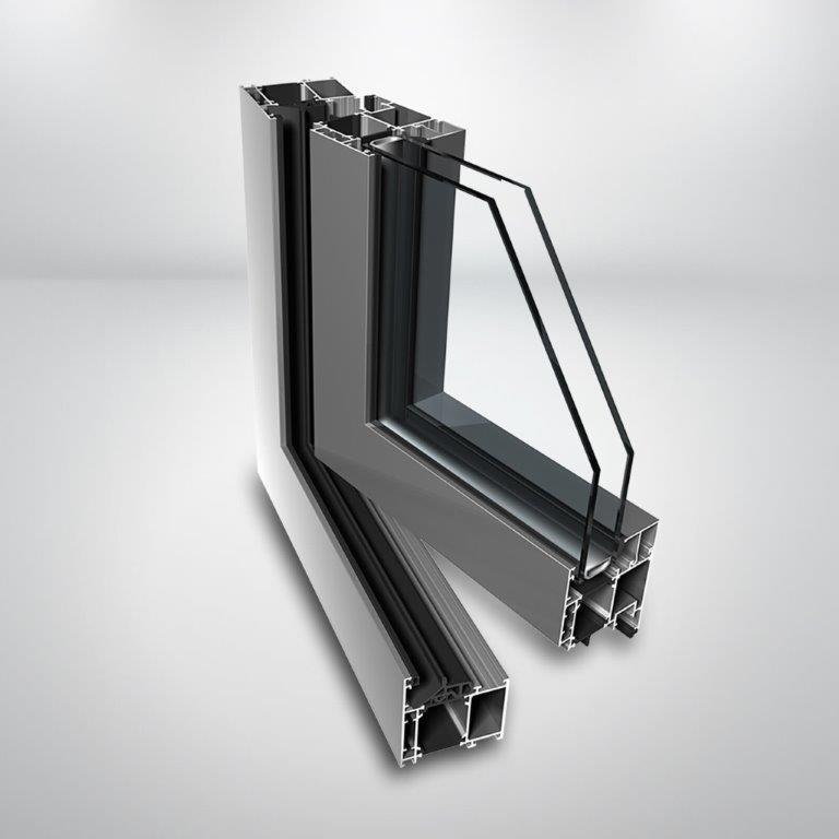 Hliníkové okno Ponzio PE68