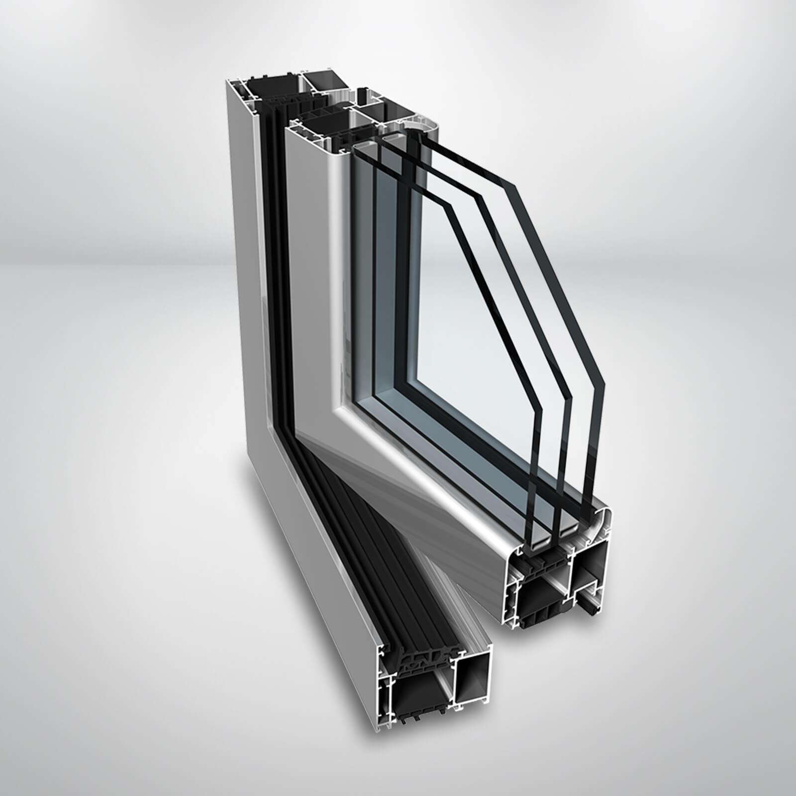 Hliníkové okno Ponzio PE78 N