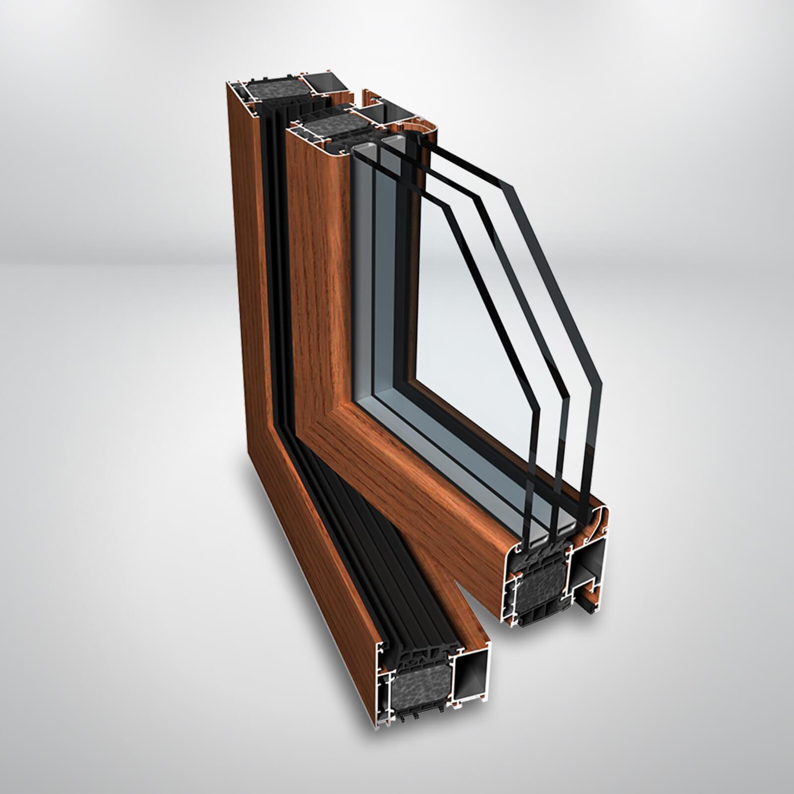 Hliníkové okno Ponzio PE78 N HI