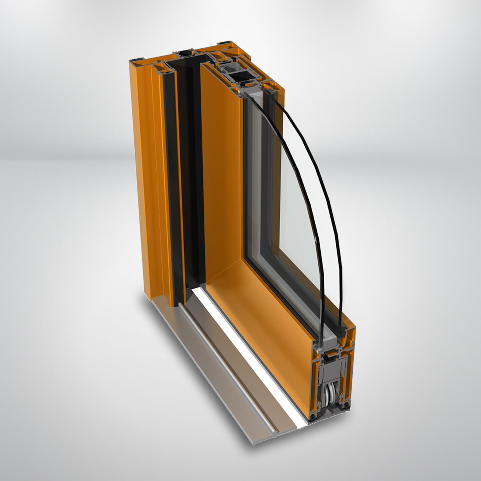 Hliníkové HST dvere SLIDING  TT
