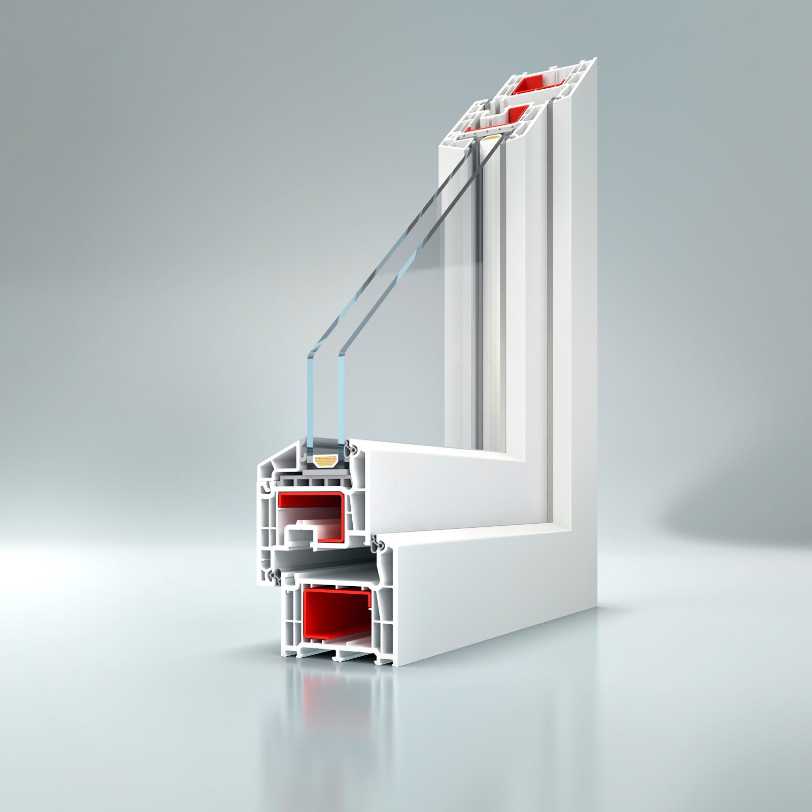 Plastové okná bluEvolution 73 VIP rovný